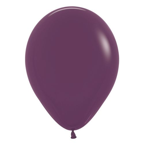 "Fashion Colour Solid Burgundy 018 Latex Balloons 12""/30cm"